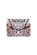 CAMILLA IN HER SHOES SMALL CANVAS CLUTCH