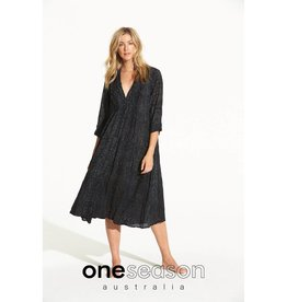 ONESEASON MIA DRESS CORSICA BLACK