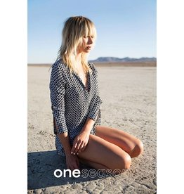 ONE SEASON GENIE TOP CORFU INK VISCOSE