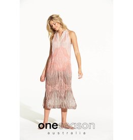 ONE SEASON JACQUI DRESS TAJ BLUSH/LATTE