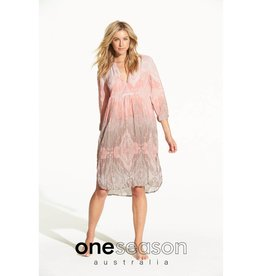 ONESEASON PAPY DRESS TAJ BLUSH/LATTE