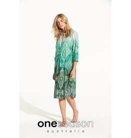 ONESEASON PAPY DRESS TAJ EMERALD