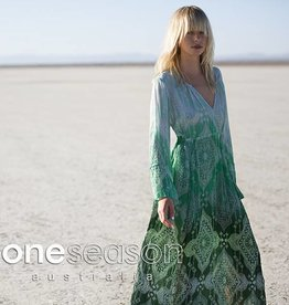 ONE SEASON BECCA DRESS TAJ EMERALD VISCOSE