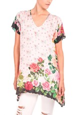 JOHNNY WAS ROSES TUNIC