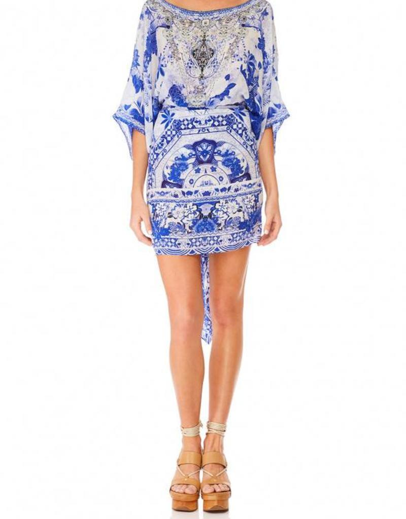 CAMILLA THE FAN SEA ROUND NECK KAFTAN