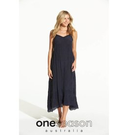 ONE SEASON ANTOINETTE SLIP PLAIN INK