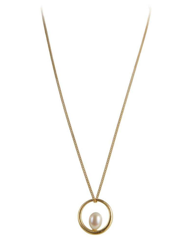FAIRLEY PEARL INFINITE NECKLACE GOLD