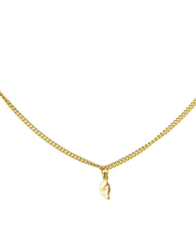 FAIRLEY ALEXA LEAF CHARM NECKLACE