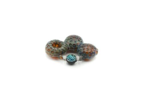 Molino Honeycomb Bubble Handpipe with Metallic Marble
