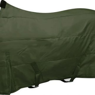 SHILOH STABLES AND TACK OPEN FRONT NYLON BLANKET 72/OLIVE GREEN 3730