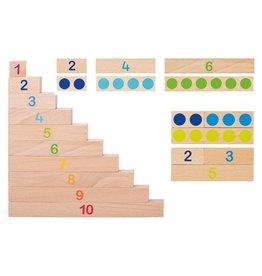 Réglettes de calculs en bois