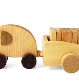 L'éléphant et son chariot de domino