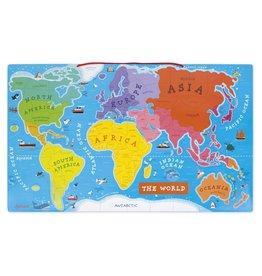 La carte du monde magnétique - Anglais - Casse-tête