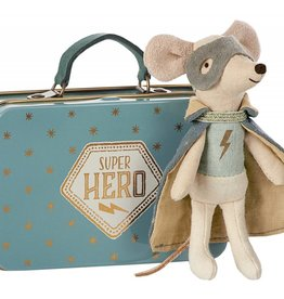 Souris super héro dans une valise - Mini