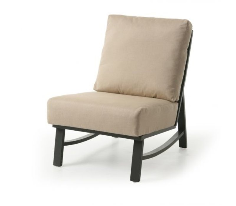 New Haven Woven Cushion Armless Club Chair