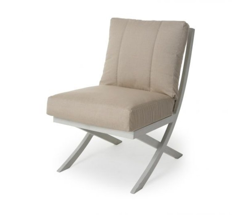 Rochelle Woven Cushion Armless Dining Chair