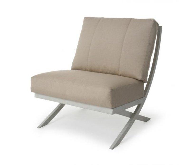 Rochelle Woven Cushion Armless Club Chair