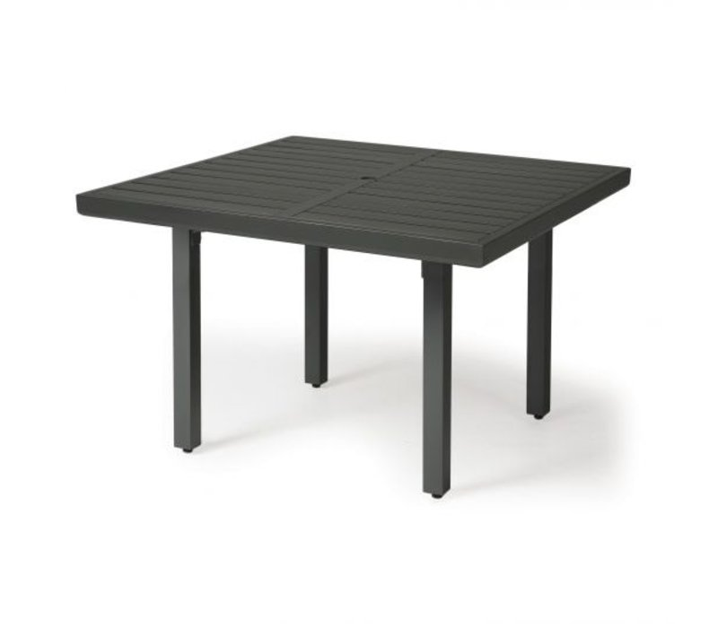 Trinidad Aluminium Dining Table Square Modern Backyard - 48 square dining table with leaf