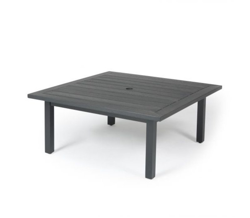 Trinidad W-Top-Aluminium Coffee Table 36 Square