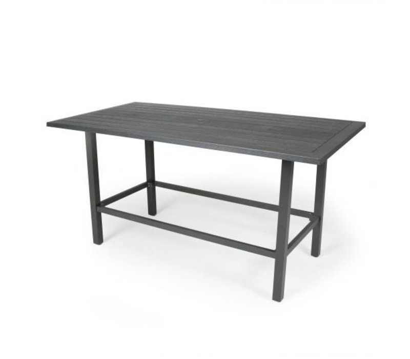 Trinidad W-Top-Aluminium Counter Height Table 39 X 72 Rect