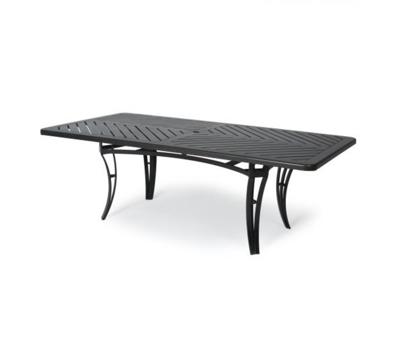 Salinas F-Top-Aluminium Coffee Table 28 X 50 Rect