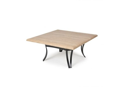 Salinas T-Top-Travertine Counter Height Table 27 Square