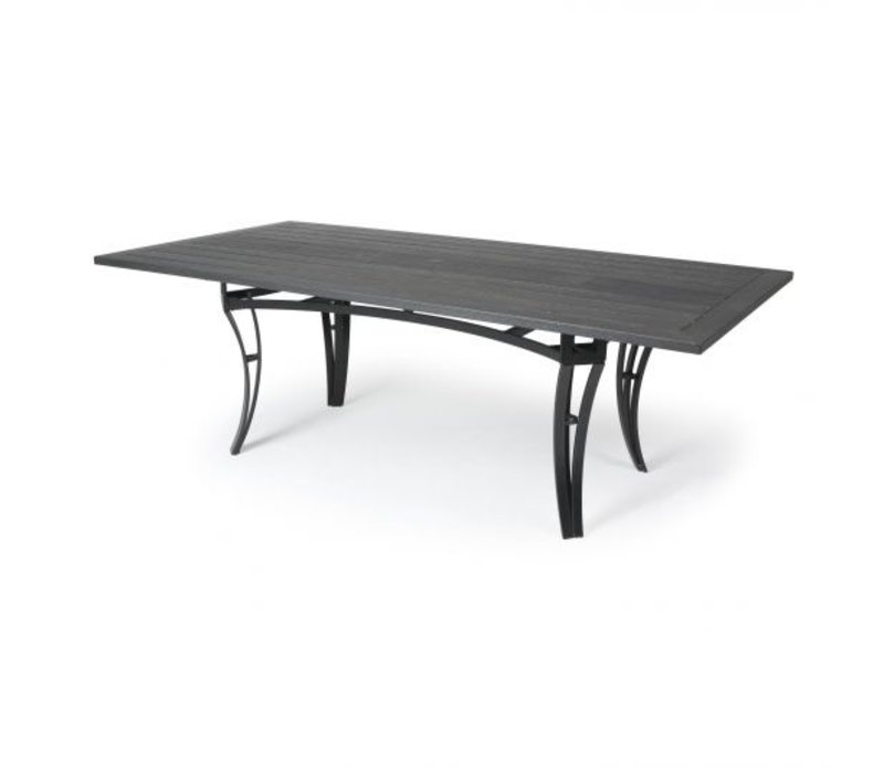 Salinas W-Top-Aluminium Coffee Table 24 X 48 Rect