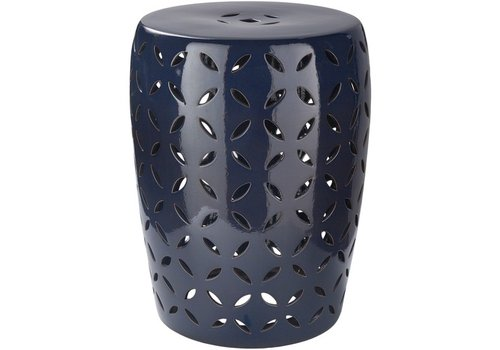 Surya Chantilly Stool Medium Navy (CHT760-M)