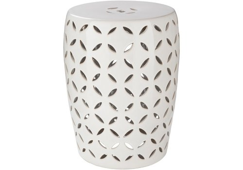 Surya Chantilly Stool Medium Ivory (CHT762-M)