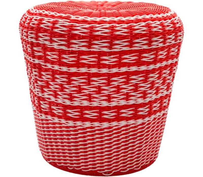Parkdale Stool Bright Orange/White (PKD001)