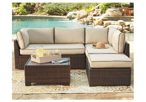 Modern Backyard Piedmont Sectional Cushion Set
