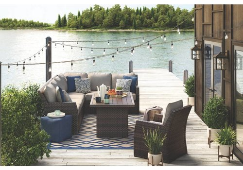 Modern Backyard Wrightsville Deep Cushion Set