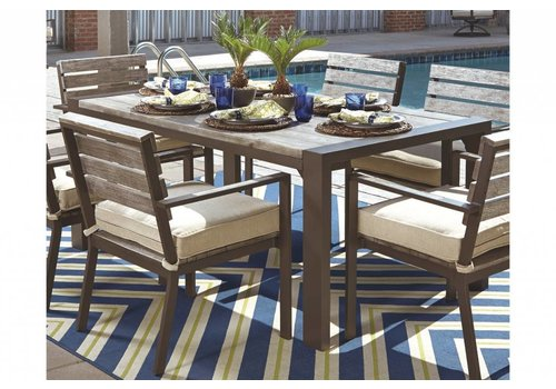 Modern Backyard Hatteras Dining Set