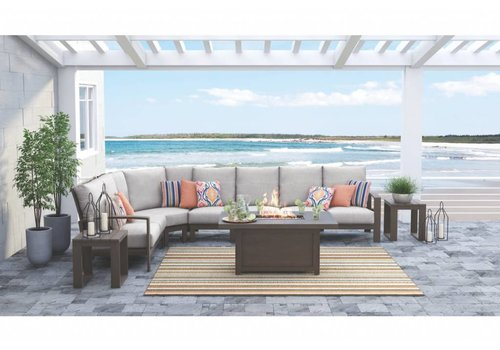 Modern Backyard Raleigh Sectional Set