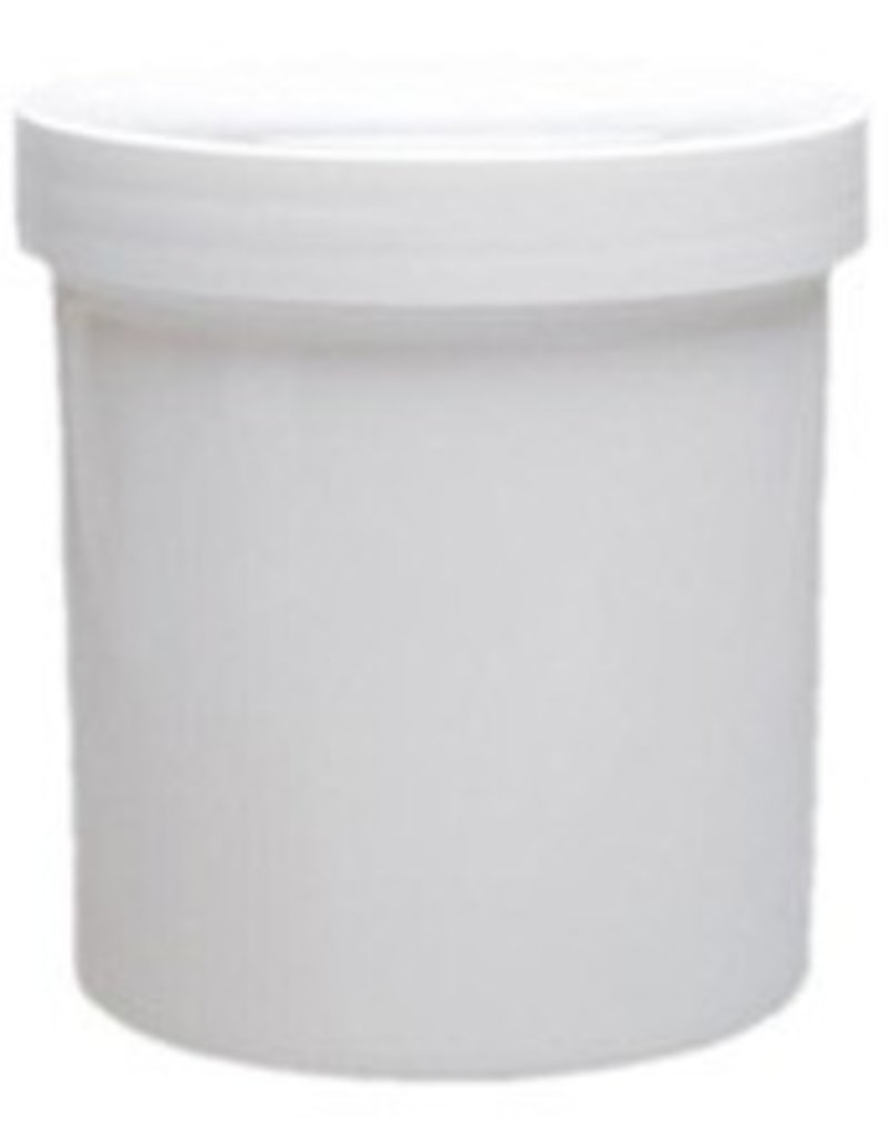 16 Oz Straight Sided White Plastic Jar