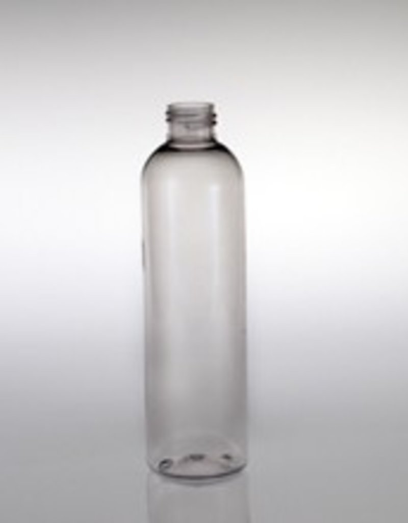 Clear Cylinder Bottle 12oz w/choice of top