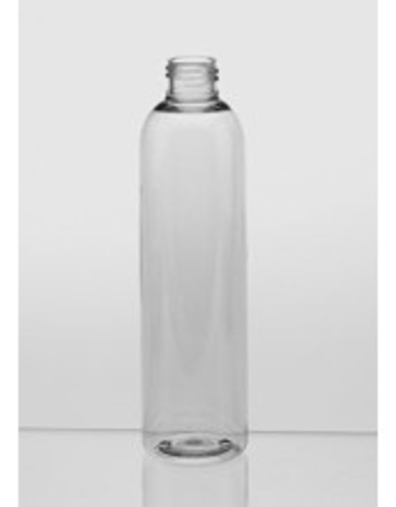 Clear Cylinder Bottle 6oz w/choice of top