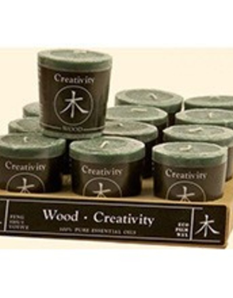 Feng Shui Votive - WOOD/Creativity