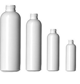 White Cylinder Bottle 4oz w/choice of top