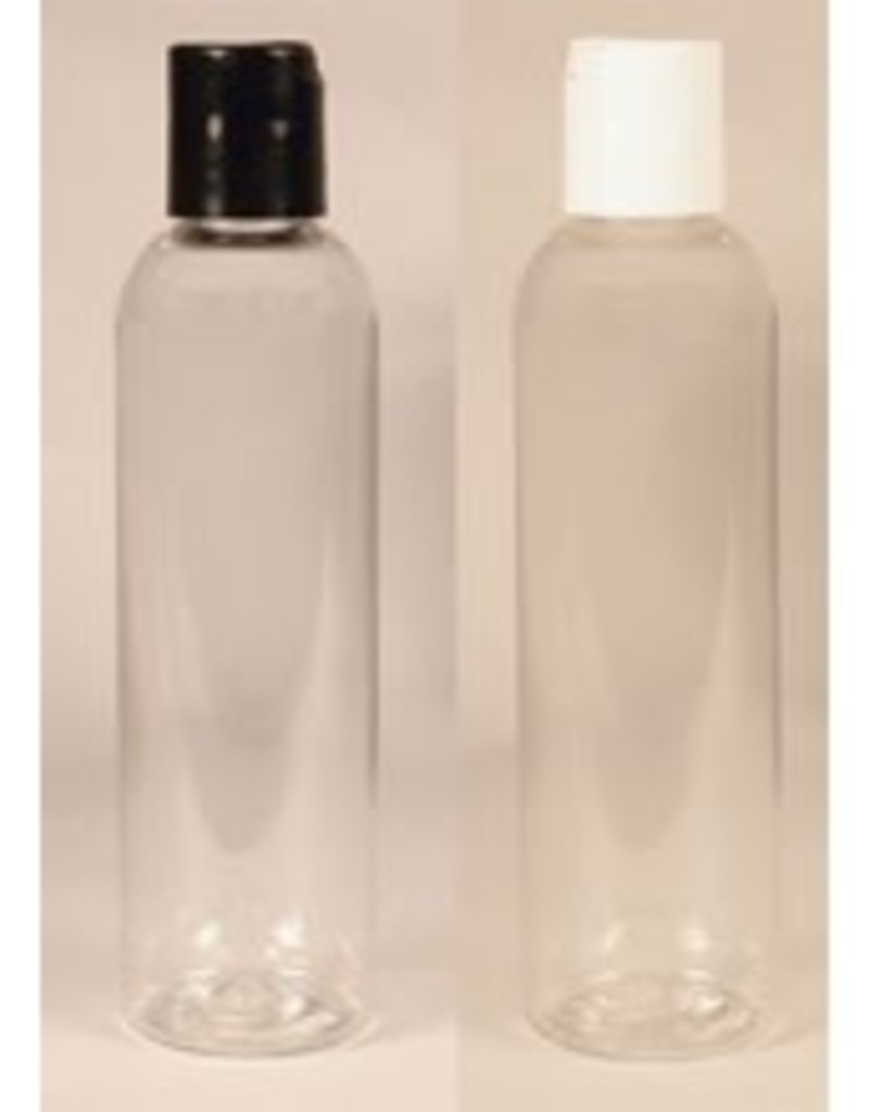 Clear Cylinder Bottle 2oz w/choice of top