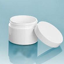 White 2oz Jar w/choice of top