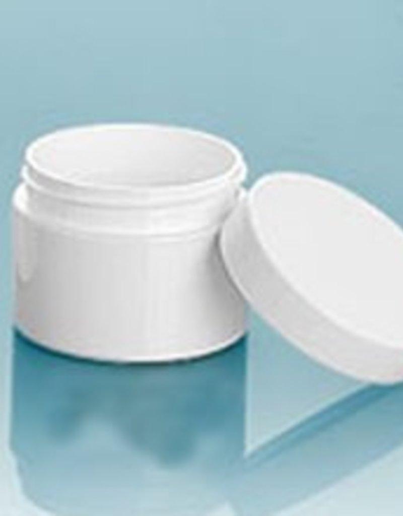 White 4oz Jar w/choice of top