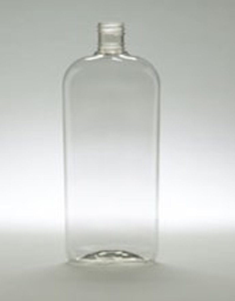 Clear Oval Bottle 7.5oz w/choice of top