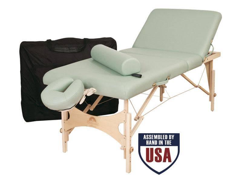 Oakworks Alliance Tilt Top Wooden Frame Massage Table Package
