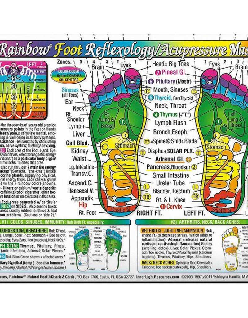"""Foot Reflexology Chart (8.5x11"""")"""