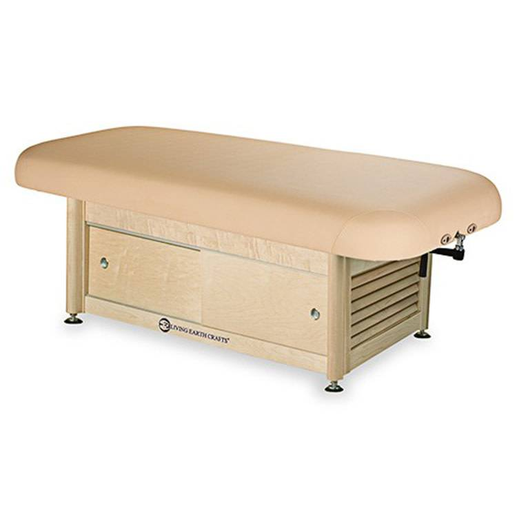 LEC Napa Flat Top Spa Table Package w/Cabinet Base Massage Table Package