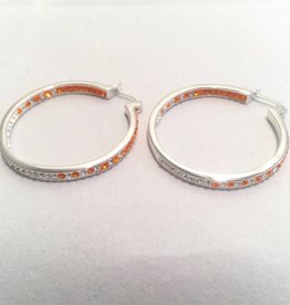 Chelsea Taylor Sun & Clear Earrings (Thin Hoop)