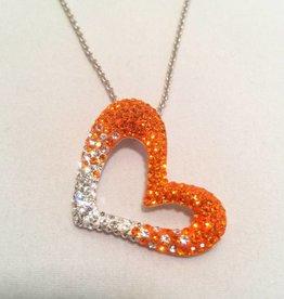 Chelsea Taylor Sun & Clear Pendant (Heart)