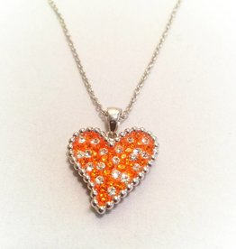 Chelsea Taylor Sun & Clear Pendant (Solid Heart)