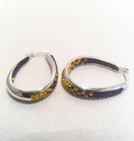 Fan Wear Earrings (Purple & Gold)